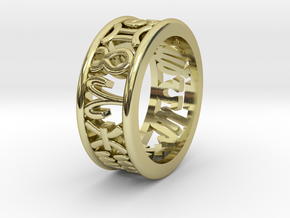 Constellation symbol ring 7.5-8 in 18K Gold Plated