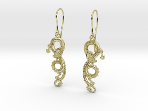 Dragon earrings in 18K Gold Plated