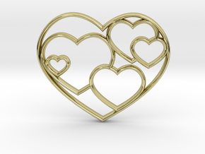 Heart Necklace Sm in 18K Gold Plated