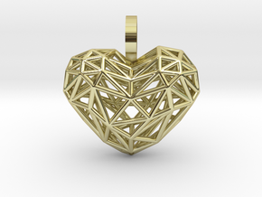 Heart Pendant - Wireframe in 18K Gold Plated