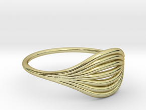 Flow Ring 01  in 18K Gold Plated