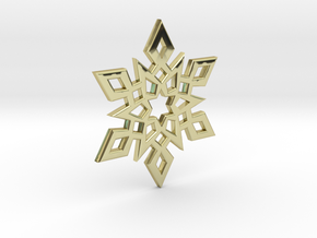 Snowflake Charm 2 in 18K Gold Plated
