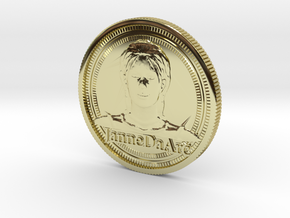 Jehanne Darc coin in 18K Gold Plated