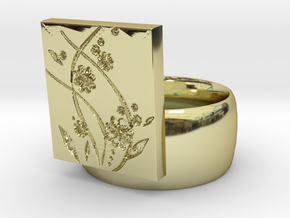 Flower  Ring Version 2 in 18K Gold Plated