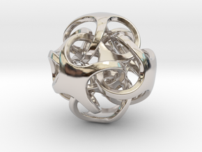 Metatrino Pendant in Rhodium Plated Brass