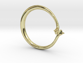 Cygnus Olor Swan Ring in 18K Gold Plated