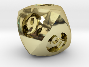 Overstuffed d8 in 18K Gold Plated