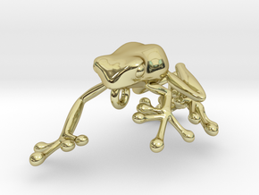 Frog_Pendant_Head in 18K Gold Plated