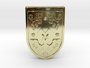 Toon Hero's Shield in 18K Gold Plated