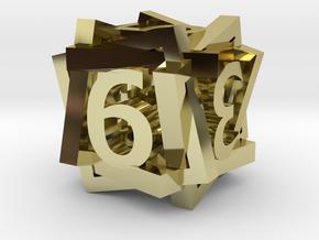 Tilted Frame Die in 18K Gold Plated