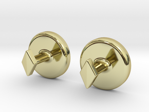 Yinyang Cuff Links - Large in 18K Gold Plated
