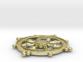 Wheel of Life Pendant - Dharmachakra in 18K Gold Plated