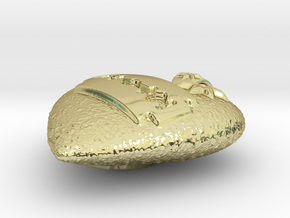 Razor Heart Pendant in 18K Gold Plated