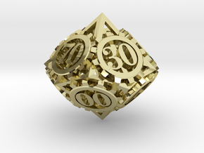 Steampunk Gear d00 in 18K Gold Plated
