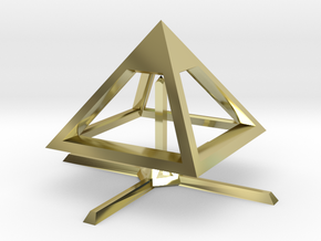Pyramid Mike B 4cm in 18K Gold Plated