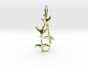 Flying Birds Pendant in 18K Gold Plated