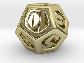 Thoroughly Modern d12 in 18K Gold Plated
