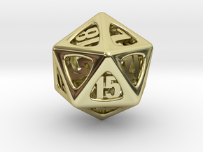 Thoroughly Modern d20 in 18K Gold Plated