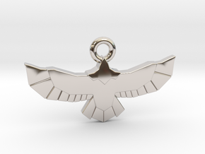 Poly Eagle in Rhodium Plated Brass