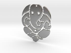 Ganesh ji (Pandent) in Natural Silver