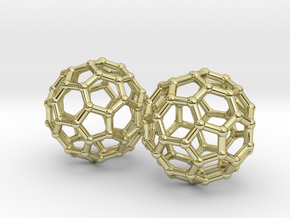 Mini Buckyball Chemistry Molecule Earrings in 18K Gold Plated