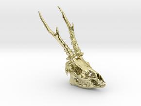 Roe Deer Skull in 18K Gold Plated