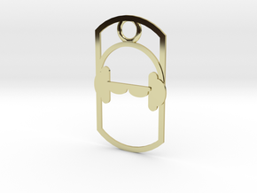 Headphones dog tag in 18K Gold Plated