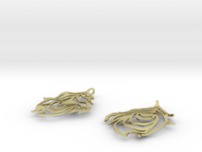 Feather Earrings in 18K Gold Plated