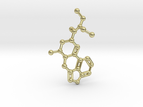 LSD Molecule Keychain / Pendant in 18K Gold Plated