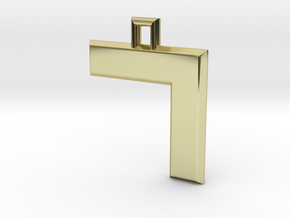 ABC Pendant - 7 Type - Solid - 24x24x3 mm in 18K Gold Plated