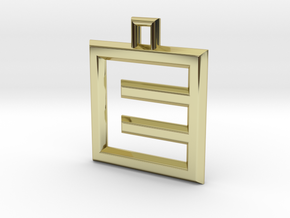ABC Pendant - E Type - Wire - 24x24x3 mm in 18K Gold Plated