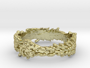 OuroBoros Ring Size 11.25 in 18K Gold Plated