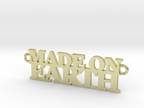 Made on EARTH Pendant in 18K Gold Plated
