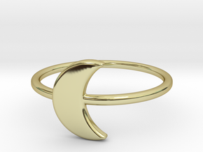 Midi Moon Ring by titbit in 18K Gold Plated