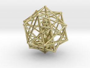 Merkabah Starship Meditation 40mm Dodecahedral in 18K Gold Plated