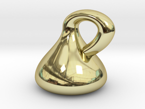 Klein Bottle - Non-Orientable Surface in 18K Gold Plated
