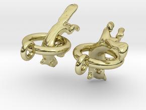 Fox Earrings in 18K Gold Plated
