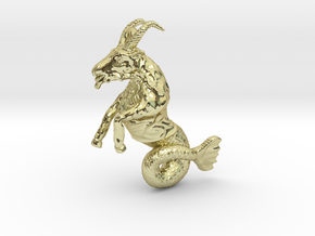 Capricorn Pendant - 2.6cm in 18K Gold Plated