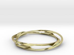 Barred Twist Bangle in 18K Gold Plated