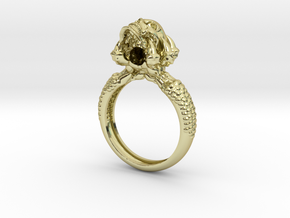 Monster Claw and Scull ring in 18K Gold Plated