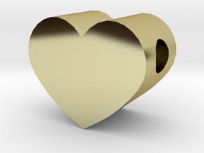 Small Simple Heart Slide Pendant - 1cm diameter in 18K Gold Plated