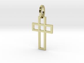 Cruz elegante Ouro 18K in 18K Gold Plated