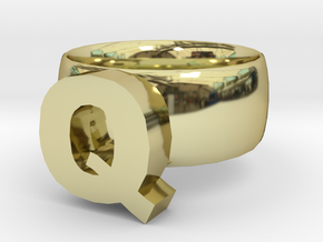 Q Ring in 18K Gold Plated