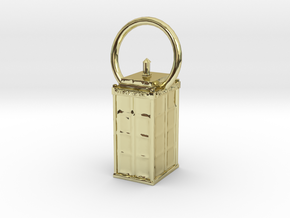 Tardis Pendant  in 18K Gold Plated