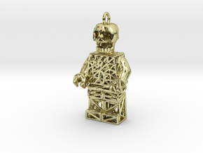 Los Muertos Lego Man Key Chain in 18K Gold Plated