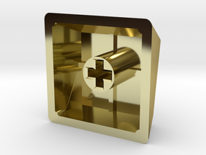 Mac Command Keycap (R1, 1x1) in 18K Gold Plated
