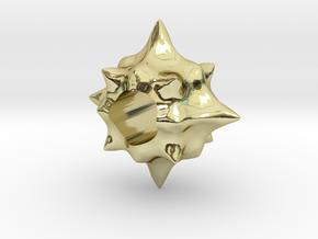 Pollen European Charm Bracelet Bead in 18K Gold Plated