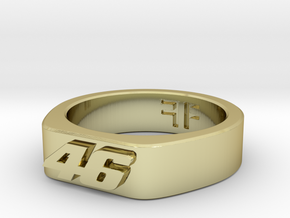 Valentino Rossi - 46 -  MotoGP ring 20mm in 18K Gold Plated