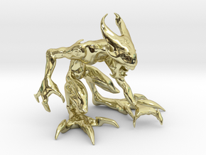 "2.5"" Small Croutching Fire Sprite in 18K Gold Plated"