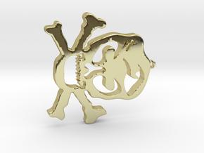 Skull Pendant in 18K Gold Plated